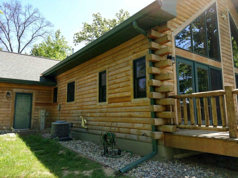 Lake Mason Log home
